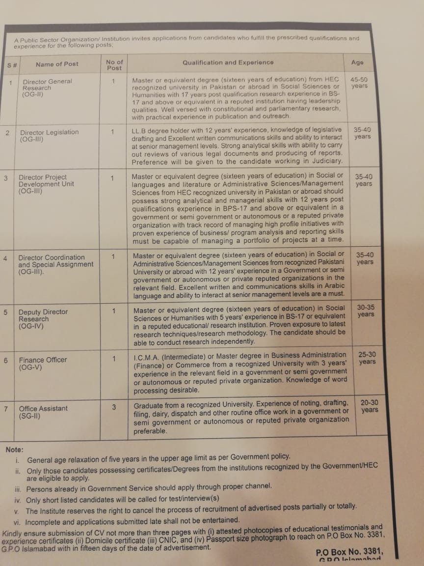 Director Legislation (OG-III)